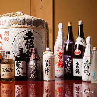 日本酒は「土佐鶴」