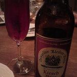 フランツィスカーナー バー&グリル - チェリーのビール。女子でも飲みやすいです。
