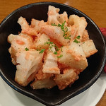 日本酒バル YODARE - 焼きレンコン明太バター