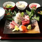 瑞花 季節のお刺身御膳 1280円(税込)