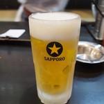 寅屋天満 - 生ビール
