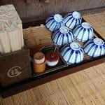 88591650 - お茶碗と箸はこんな感じで置いてあります
