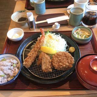 かつ敏 東大宮店 - 三元豚お試しランチの梅。 税抜1290円。 美味し。