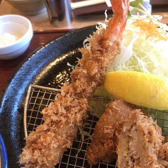 かつ敏 東大宮店 - 海老フライ。 美味し。