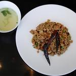 88593094 - ホイコーロ炒飯、スープ
