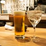 天ぷらとワイン大塩 天五横丁店 - 生ビール & 日本酒