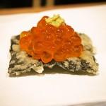 天ぷらとワイン大塩 天五横丁店 - いくらカナッペ