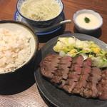 味の牛たん喜助 - 特切り厚焼き定食(2484円)