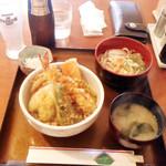 88595589 - 天丼ランチ+プレモル