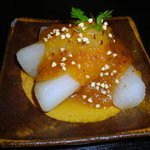 軽井沢 川上庵 - ふろふき大根の蕎麦味噌乗せ