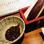 88600569 - [お通し]蕎麦味噌&季節の野菜