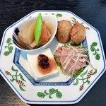 真田 - 季節の前菜四種盛り