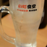 西新宿 小町食堂 - 中はこの位 240円