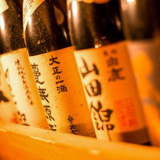 全コースで日本酒飲み放題オプション追加可能♪