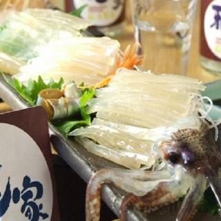 函館近海、北海道の新鮮食材を使用しています!