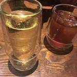 88609201 - セットのドリンク、スポークリングワイン&ピーチウーロン茶割
