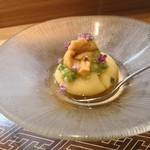 肴とお酒 うを弘 - 料理写真:とうもろこし豆腐 ウニ