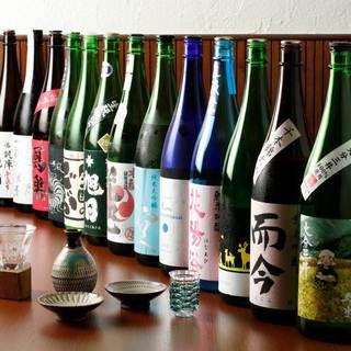 日本酒を常時100種類以上ご用意しております!