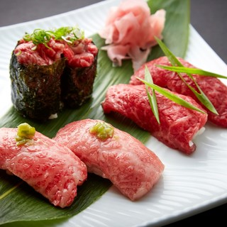 当店自慢の肉寿司をご堪能下さい