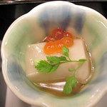 加賀屋 - 胡麻豆腐の先付け