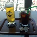 ミハラシ・カフェ - 隅田川ブルーイング(600円)&水出しアイスコーヒー(480円)