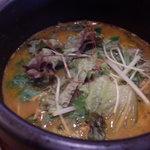 ブンブカフェ - 親鶏とニラのスープカレー