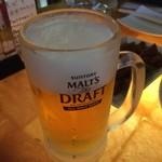 ゑびす - お店は、ゑびすでも、ビールは、モルツ。