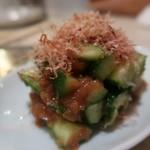 串カツ田中 - きゅうりの梅肉和え