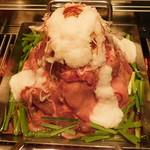 88630416 - 牛タンの鉄板とろ肉タワー鍋(チーズ&とろろをかけた後)