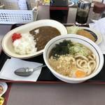 山田うどん - H30.6再 カレーセット+生玉子