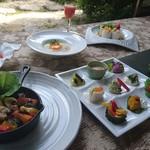 杉幸園 - 料理写真:7 月のおまかせコースです。デザートプレート付 3500円は、ご予約にて承っております。