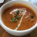 スパイスカフェ - チーズナンカレーの豆カレー ひよこ豆、インゲン豆等が入り美味しい^ ^