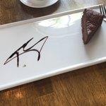 スパイスカフェ - デザートのガトーショコラ チョコ感がしっかり