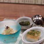 88642167 - 鯛煮こごり 満願寺焼き浸し 素麺南京