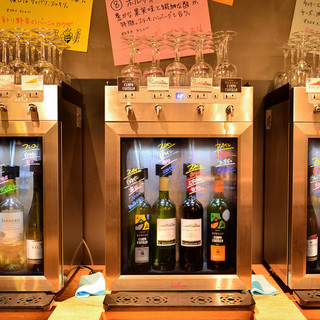 赤・白ボトルワインが時間無制限飲み放題1,580円!!