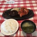 キッチンドナルド - Cセットのハンバーグステーキと若鶏のカツレツ('18/07/03)