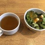 神田ビストロ style - スープとサラダ