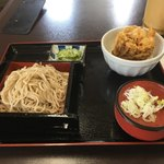 むじな庵 - 料理写真:そば  ミニかき揚げ丼セット 800円