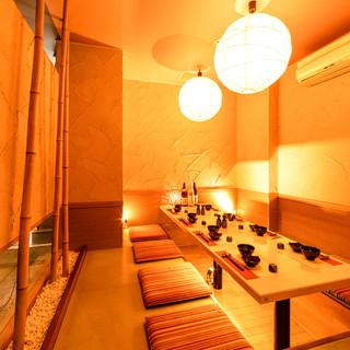 プライベートなひとときに最適な完全個室
