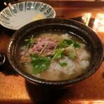 津軽じょっぱり漁屋酒場 - 焼き塩辛茶漬け
