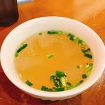 我自由家タイランド - ランチのスープ