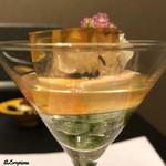 お料理 七草 - 海そうめんのパフェ仕立