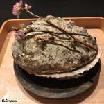 お料理 七草 - 大きな鮑の貝殻