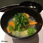お料理 七草 - 残雪仕立の霙椀