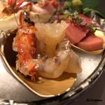 お料理 七草 - 車海老と本鮪 中トロ