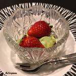 お料理 七草 - いちごと抹茶のババロア