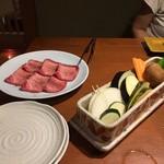 88658977 - タンと焼き野菜
