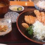 レストラン 戸々魯 - C定食(三元豚+海老フライ)