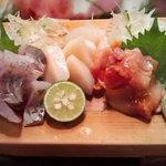 かわなみ鮨 - 鯵、平貝、赤貝