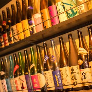 【種類豊富なドリンク】全国各地より取り寄せた日本酒・焼酎